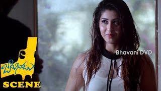 Chamak Chandra Disturbing Naga Shourya And Sonarika - Jadoogadu Movie Scenes