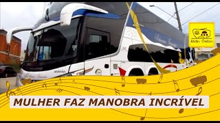 Mulher faz manobra incrível com um ônibus de dois andares 2015