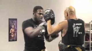 Jon Jones UFC Champion Training @ Raging Wolf MMA Gym