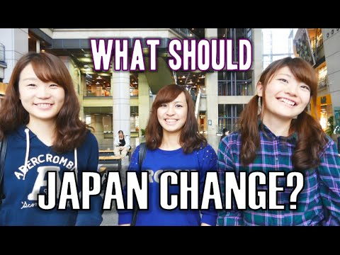 What Japanese people would CHANGE about Japan 街角インタビュー(日本の変えたいところ)