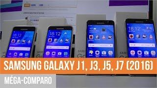 SAMSUNG GALAXY J1, J3, J5, J7 (2016) : méga-comparo par TFP