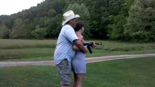 Cousins wife scared to pull the trigger