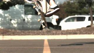 Skateology: nollie late kickflip (1000 fps slow motion)