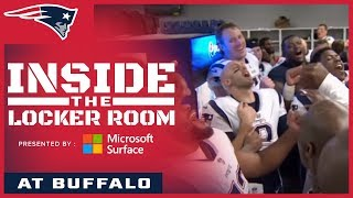 Inside the Patriots locker room after the win over the Bills