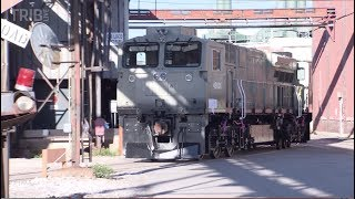 First look at GE locomotives made for India near Erie, Pennsylvania