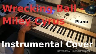 Wrecking Ball Instrumental Cover -Miley Cyrus - HD (Piano, Drums, Synths, Strings)