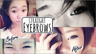 How to Achieve Straight, Innocent, Korean Eyebrows [Transforming Eyebrows]