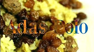 lentils rice with meat balls recipe _ Persian Adas Polo (English)