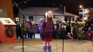 Georgia Pugh Singing There Is A Santa Claus From Elf The Musical At Light Up Okotoks 2015