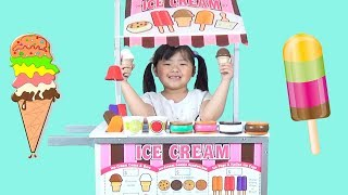 ICE CREAM CART!  Kid Selling Ice Cream, Popsicle, and Sweets