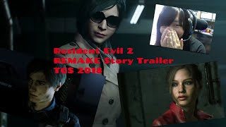 Resident Evil 2 REMAKE Official Story Trailer Reaction [TGS 2018]