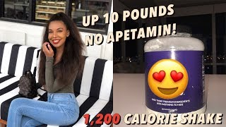 How I gained 10 pounds in 3 weeks! + my 1,200 Calorie Shake recipe