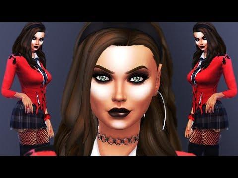 SEXY ZOMBIE SCHOOL GIRL | The Sims 4 | Create A Sim (CAS) HALLOWEEN GROUP COLLAB