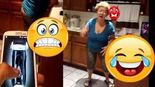 Son Pranks Mom With Fake hair clipper 2017 (joke)