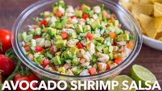 Loaded Avocado Shrimp Salsa Recipe - Natasha