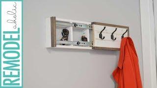 Coat Rack with Hidden Compartment DIY Tutorial