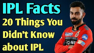 IPL 2018 : Amazing Facts about IPL | Indian Premier League | Cricket Facts and Records