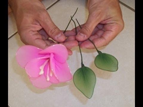Flor de meia calça