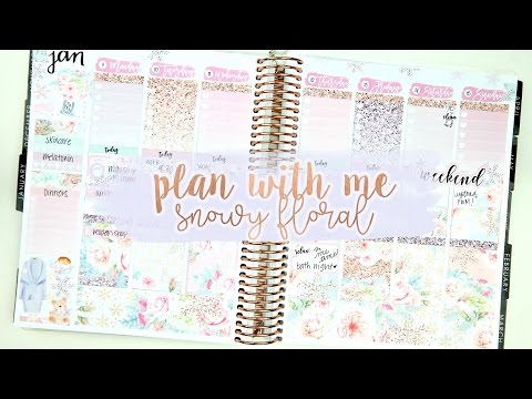 Plan with Me Snowy Floral ft. The Sweet Planner
