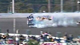 Dale Earnhardt Sr. Fatal Crash *Live With Replays*