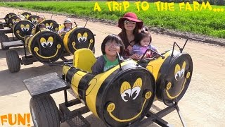Kiddie Rides! Pony Ride, Farm Tractor Ride, Animal Petting, Animal Show and Strawberry Picking