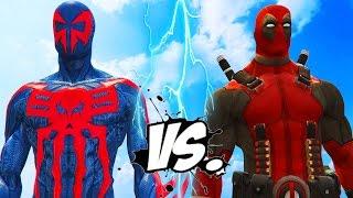 DEADPOOL VS SPIDERMAN 2099 - EPIC SUPERHEROES BATTLE