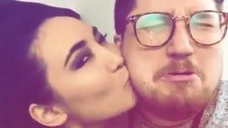 ویدیو عاشقانه و جنجالی از بوسیدن الهه استیج و طراح لباس منوتو