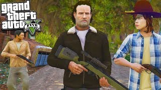 GTA 5 ZOMBIE MOD: THE WALKING DEAD Surviving With Rick, Carl & More! (GTA 5 Mod)