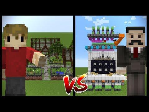 MINECRAFT BUILDING VS REDSTONE Grian vs Mumbo