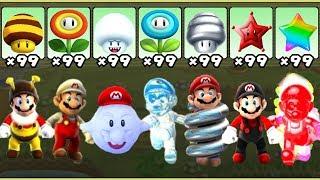 Super Mario Galaxy - All Power-Ups