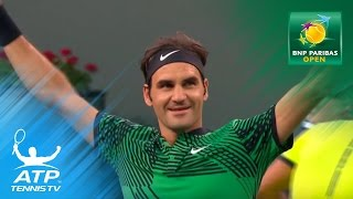 Federer beats Nadal, Kyrgios stuns Djokovic   Indian Wells 2017 Day 7 Highlights