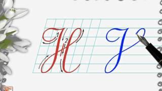 Luyện viết chữ đẹp - Chữ hoa H viết nghiêng - How to write capital letter H