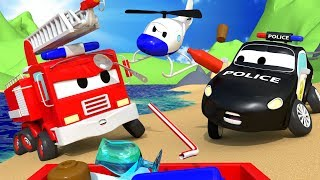 There is a problem on the beach of Car City ! - The Car Patrol 🚓 🚒  l Cartoons for Children