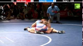 130 lbs. Finals - Kayla Miracle (IN) vs. Teshya Alo (HI)