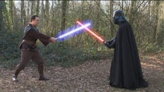 Original Darth Vader (Dave Prowse) has a Lightsaber Fight with Christian O