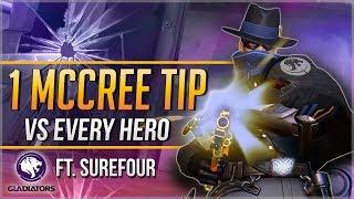 1 McCREE TIP for EVERY HERO ft. LA Gladiators Surefour