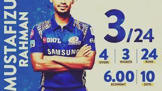 Mustafizur rahman outstanding bowling   FIZ IPL2018    3 wickets 24 Runs   MI vs SRH  