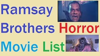 Ramsay Brothers Horror Movie List