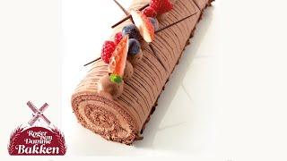 Bakken met Roger - Rolbiscuit met chocolademousse