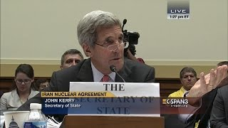 """John Kerry: """"Congressman, I don't need any lessons from you about who I represent."""