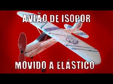 Como fazer aviao de isopor a elástico