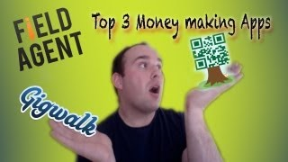 Top 3 Free Money making apps for Iphone/Android - Field Agent/Gigwalk/Qriket