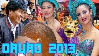 Carnaval de Oruro Banda Poopo Evo Morales bailando morenada.