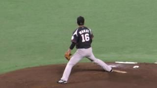 え!涌井秀章のボーク(vs柳田悠岐)~パリーグCS1st初戦 2016.10.8