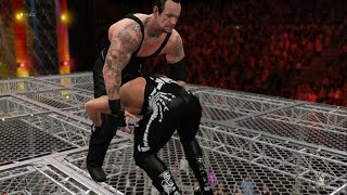 WWE 2K16 - The Undertaker vs Sting (EPIC Hell In A Cell MATCH!) 1080p HD