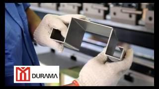 DURAMA CNC bending machine, 90 degree bend, press brake. folding machine