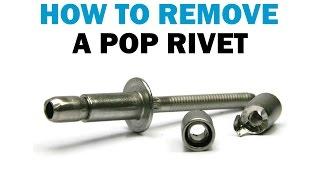 How to Remove POP Rivets Without Surface Damage | Fasteners 101