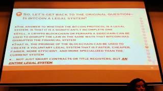 Stephanie Alexander: Is bitcoin a new legal system?