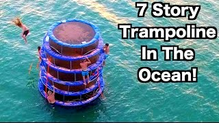 TRAMPOLINE TOWER IN THE OCEAN!!!