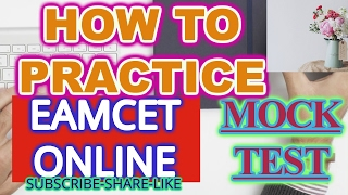 HOW TO ONLINE EAMCET EXAM WRITE PROCEDURE STARTING - ENDING